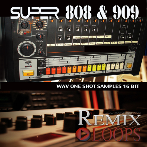 Product picture SUPER 808 & 909 (ONE SHOT SAMPLES) 16 bit