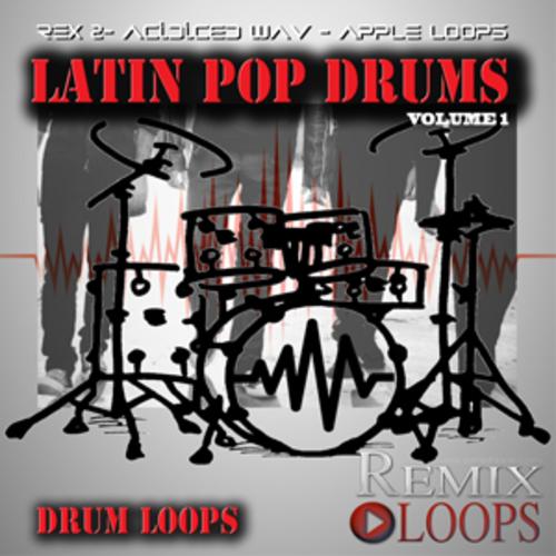 Product picture LATIN POP DRUM LOOPS(apple loops,rex 2, wav)
