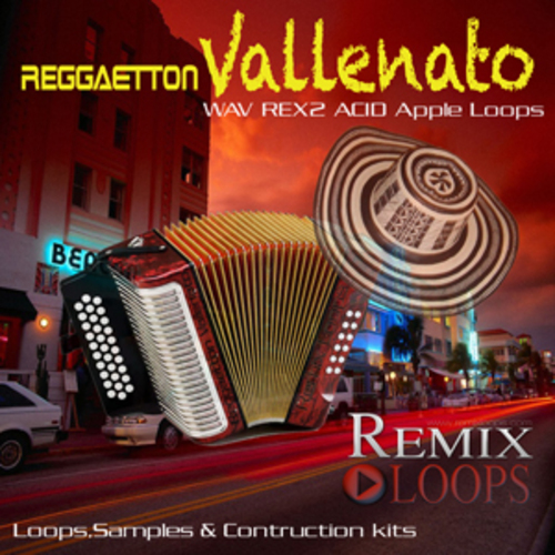 Product picture Reggaeton Vallenato Loops & Samples(Apple loops, Rex 2, Wav)