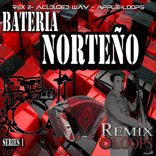 Product picture Bateria Norteño Drum Loops, samples and construction kits.
